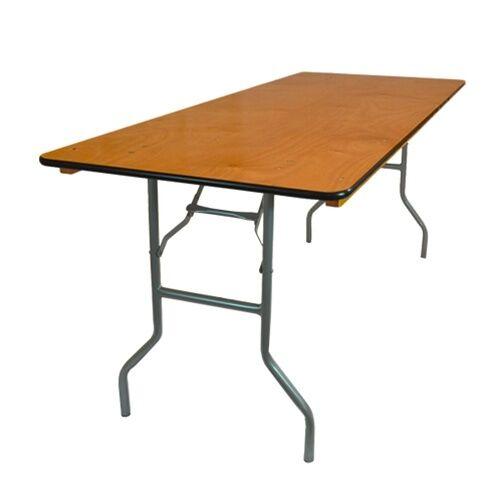 wood rectangular table 6 x 30
